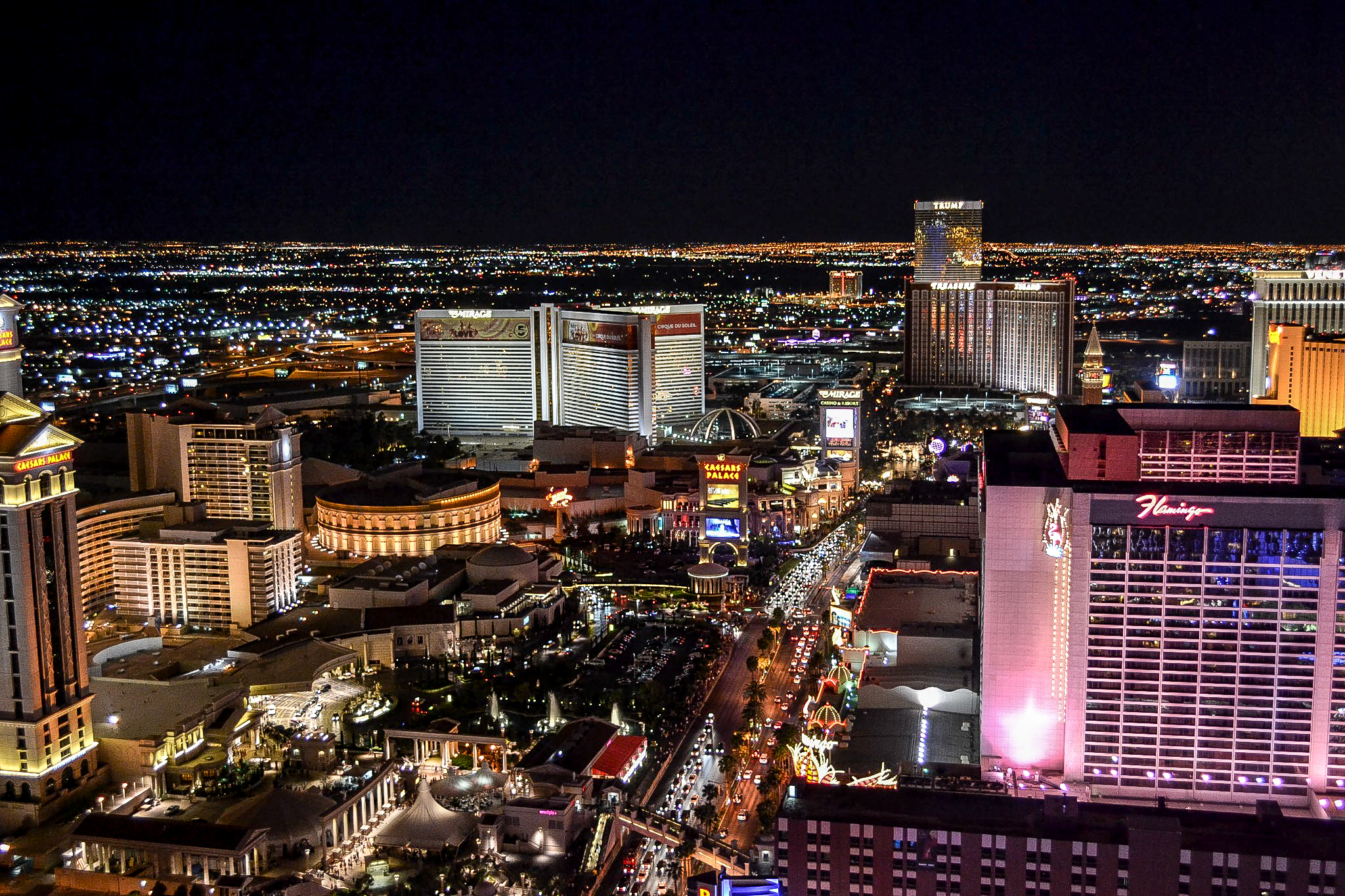 Las Vegas from the Eiffel Tower