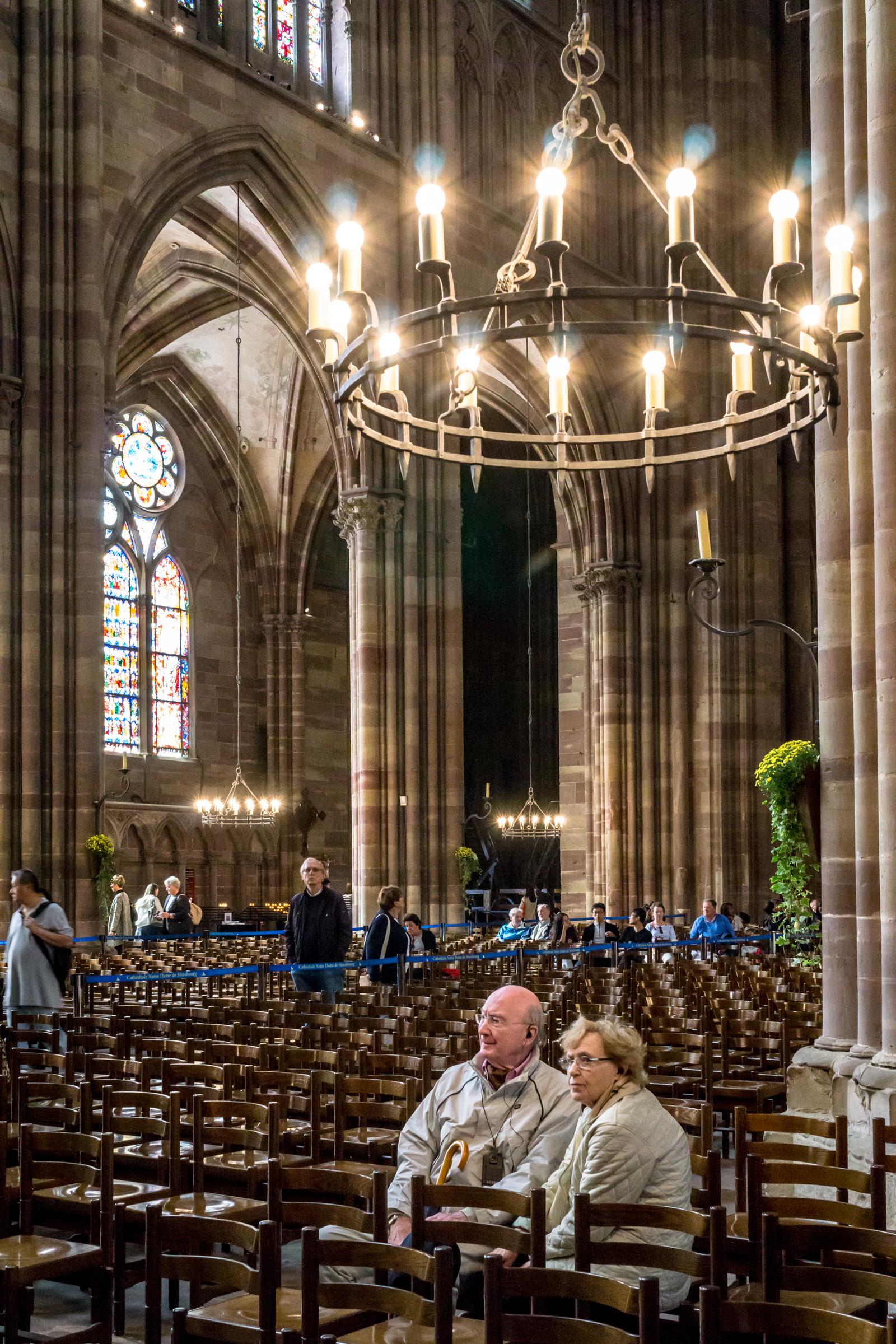 Inside Notre Dame Strasbourg